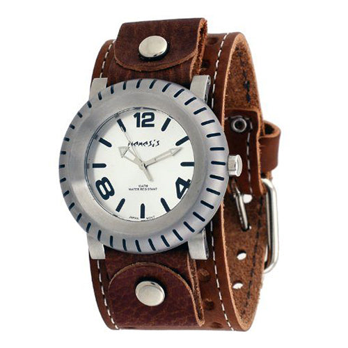 Brown Wheelmen Leather Band Watch BSTH079S