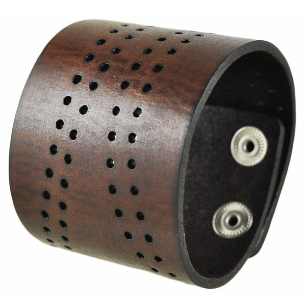 504 B nemesis leather cuff bracelet