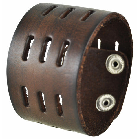 516B Nemesis leather cuff Breacelet