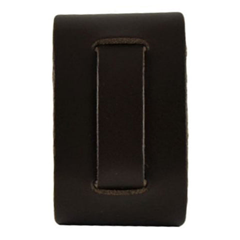 Brown Plain Narrow Leather Watch Cuff Band BNB