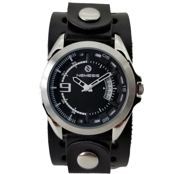 Nemesis Sully  Stainless steel 5ATM Calendar Watch with Solid Cuff band B270K