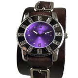 311B2BP Nemesis ladies trendy watch with brown leather cuff band