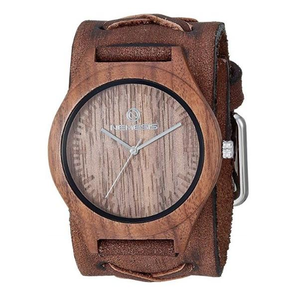 BFXB260B Nemesis natural wood case watch with Vintage X Leather cuff band