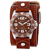 BLBB097B Nemesis Groovy Men's Watch with Wide Leather Cuff Band