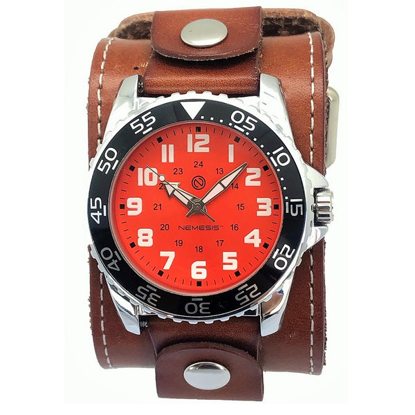 BLBB257N Nemesis Hybrid Series Diver watch Wide Brown leather cuff