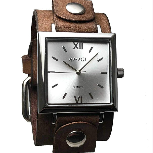 VBGB246S Nemesis Raven Watch with Brown leather Cuff Band