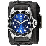 VDX257L Nemesis Super Glow Night Gens Diver watch with 10.5 inches x 2 inches wide Vintage leather cuff band
