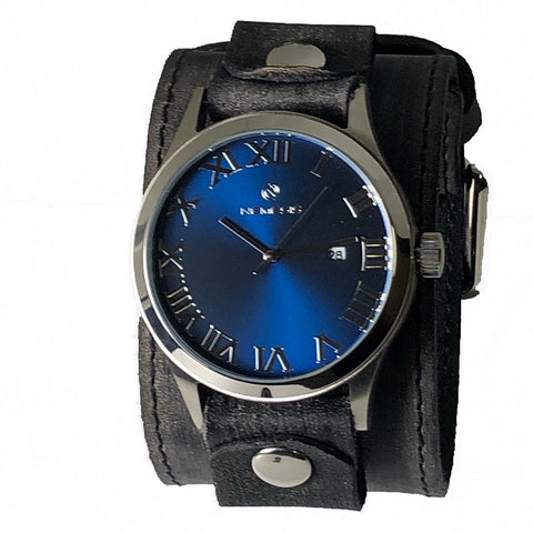 VLBB529L Nemesis stainless steel 5 ATM water resistant gems leather cuff band watch