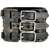 Vintage Wide Detail Leather Cuff Band FWB-KK