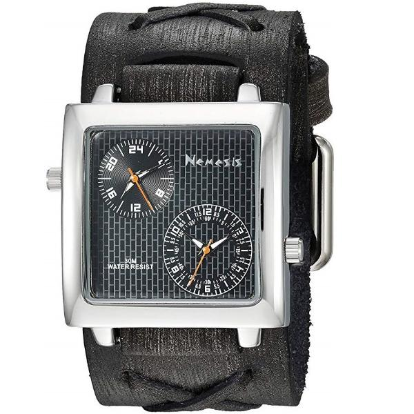 KFXB221KK Black Dual Time SQ with Vintage X Leather Cuff Band