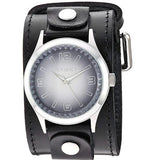 LBB217K Black Gradient Pointium Watch with Diamond cut Crystal Leather Cuff Band