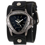 LBB928S Black Dragon Watch with Single Stitched Black Leather Cuff Band