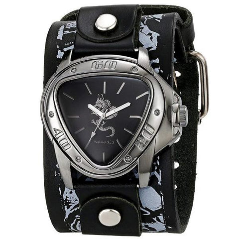 Black/Red Dragon Watch Stainless Steel Band LMS928S