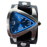 LBN011L Nemesis blue tear drops watch with black 2 inches wide leather cuff band