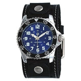 STH257L Nemesis Hybrid Series Diver watch Wide Black leather Stitch cuff
