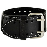 Black Mix & Match Watch with Black Single Stitched Leather Cuff Band STH012K