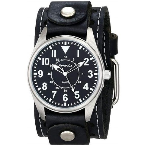 STH095K Unique Watch with Stitch  Leather Cuff Band