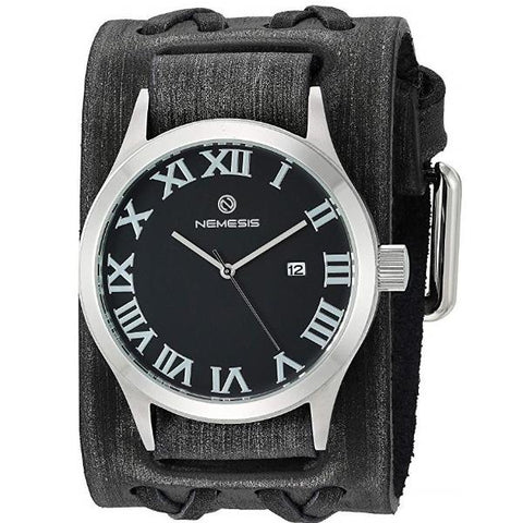 VDXB529K Nemesis Men's Roman DX' Quartz Stainless Steel and Leather Casual Watch