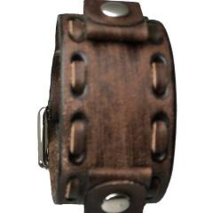 Classy Vintage Brown Leather Cuff Watch Band 20-22mm VDS-B