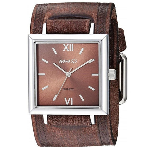 BVHST246B Nemesis Raven Ladies Watch with Vintage Brown leather Cuff Band