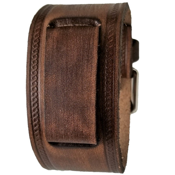 Nemesis Vintage brown leather cuff band VBHS