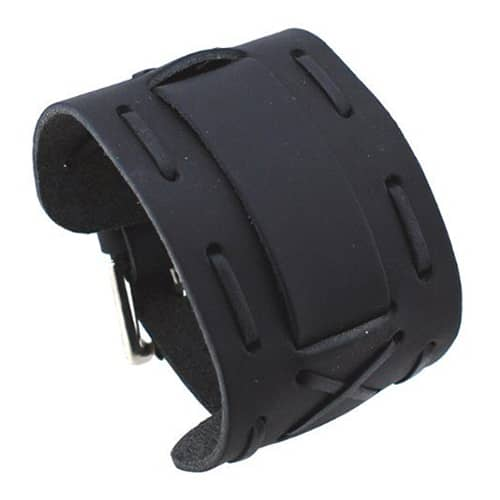 All-Black-Wide-Leather-X-Cuff-Band