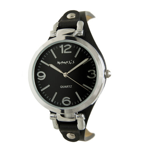 Nemesis Ladies Black and Silver Classic Watch, 315k-front