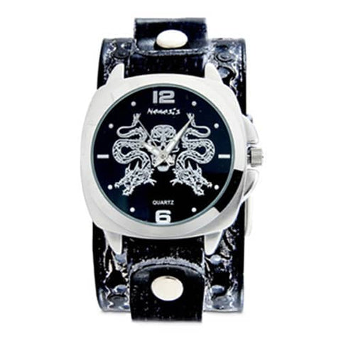 Black-Dragon-King-of-Skulls-Watch-with-BlackWhite-Dragon