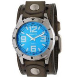 GST096L Nemesis  Sporty Racing Men's Watch with Khaki Leather Cuff Band