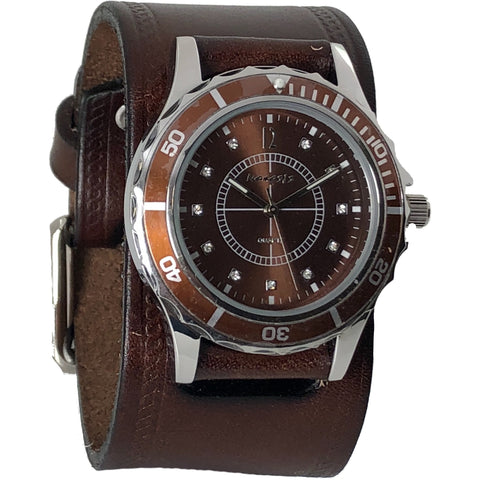 VBHS092B Nemesis sporting case with brown vintage leather band