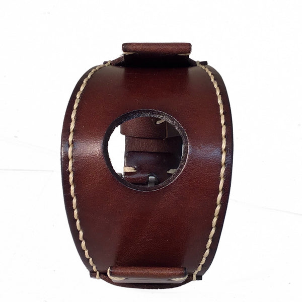 APHB Nemesis smart watch brown leather cuff band