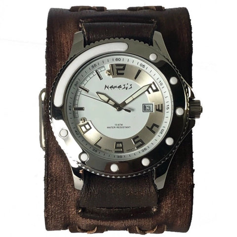 VBDX105W Nemesis Vintage Double X leather cuff sporting watch