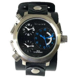 Black/Blue Chronograph Limited Edition Men's Watch with Faded Black Cuff Band LBBN 080KL