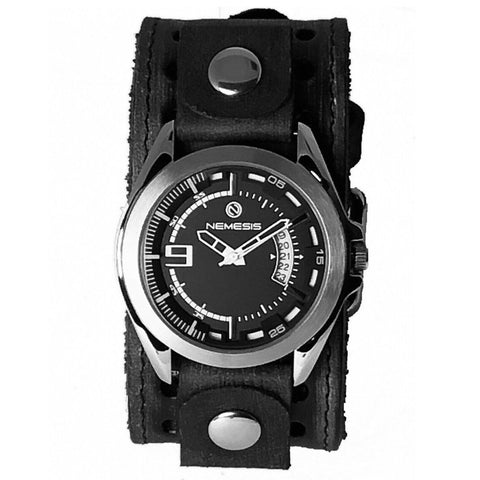VST270K Nemesis Sully stainless steel 5 ATM water resistant with black vintage leather cuff band