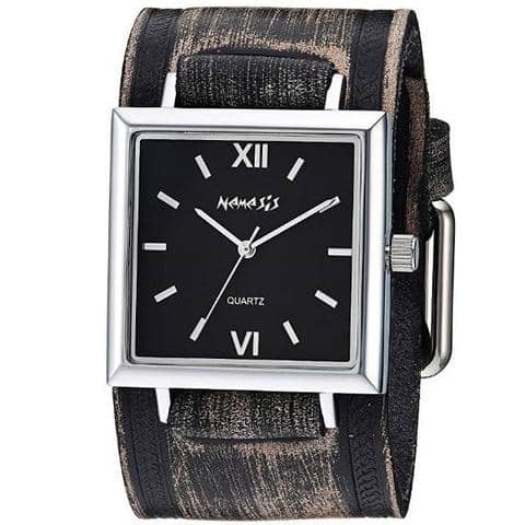 VHST246K Nemesis Raven Ladies Watch with Vintage Brown leather Cuff Band