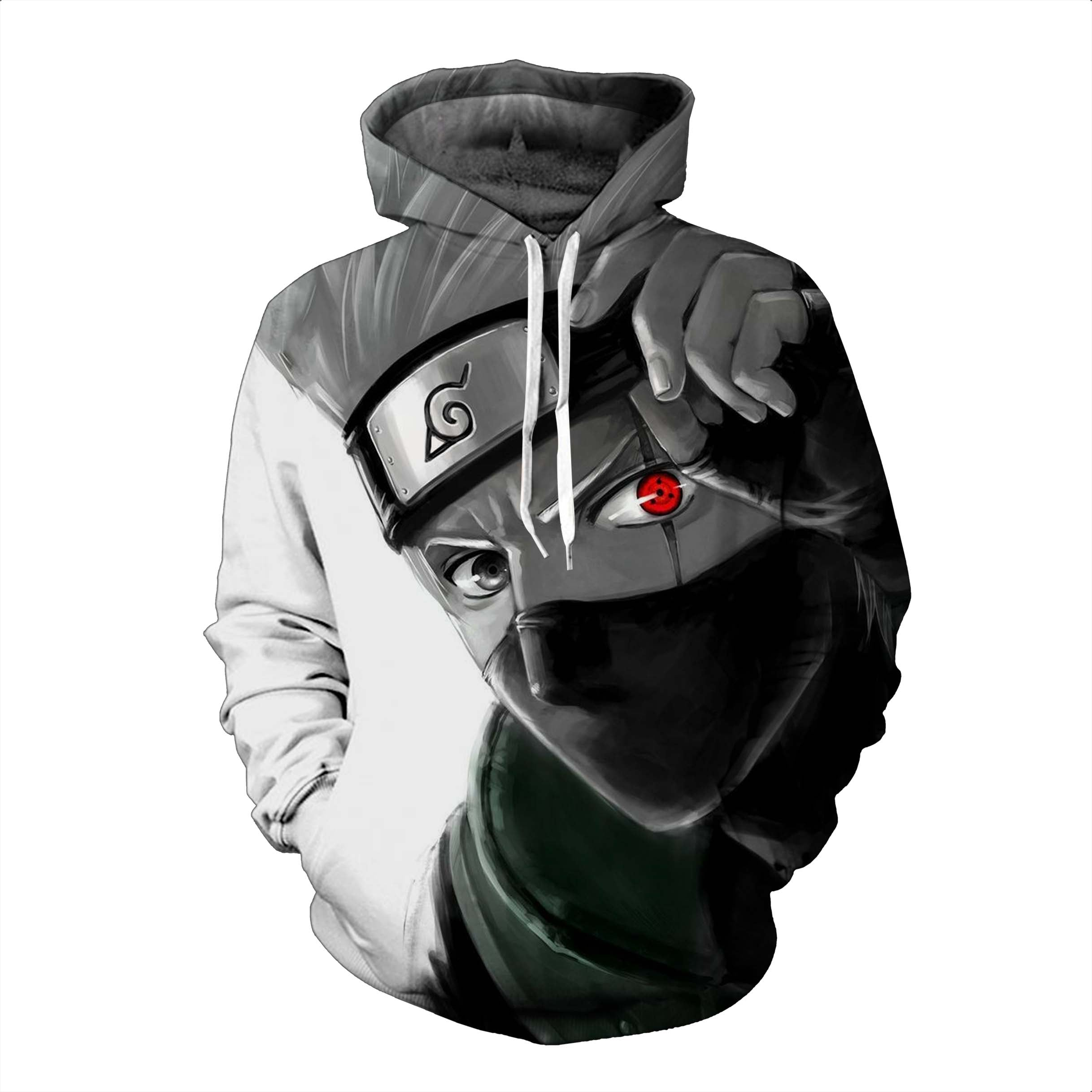 Naruto Hoodies, 3D Clear Quality: Design Kakashi