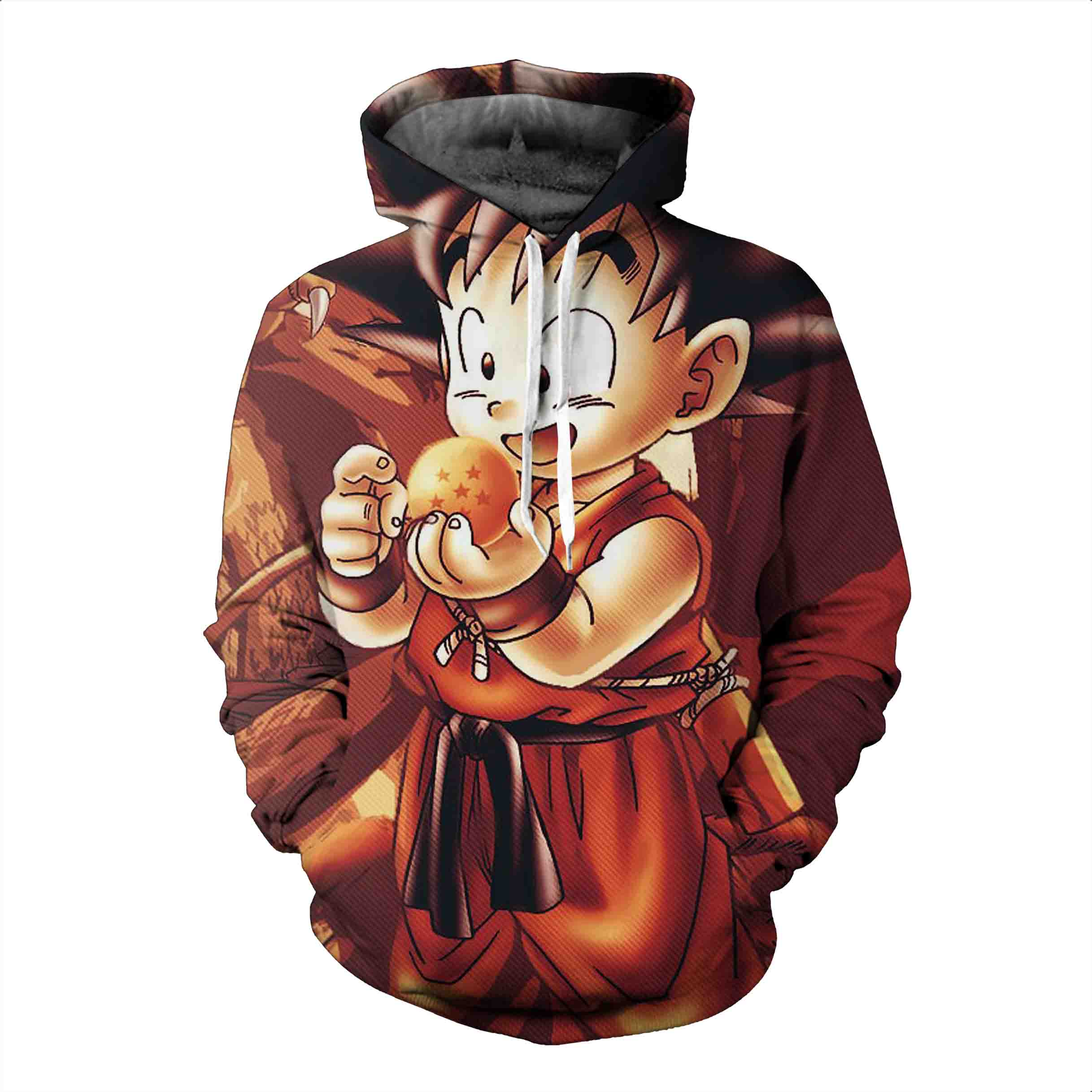 Dragon Ball Hoodies, 3D Clear Print, Best Quality : Design 6128