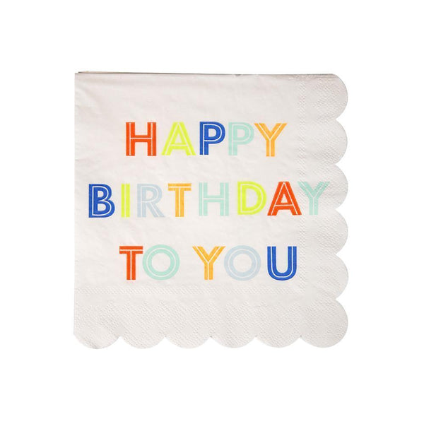Neon Birthday Napkins (Small)
