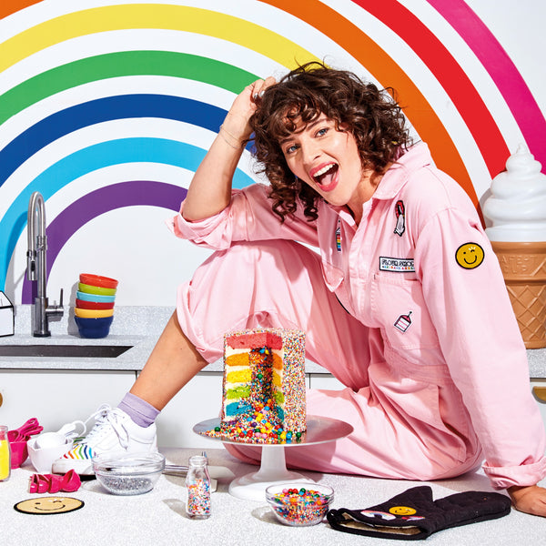 Flour Shop Pink Jumpsuit with Patches