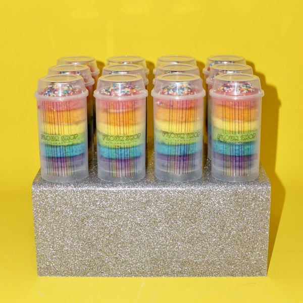 Glitter Acrylic Stand Holding 12 Push-Pops