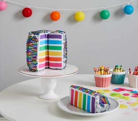 Sequins Rainbow Cake Plush Toy