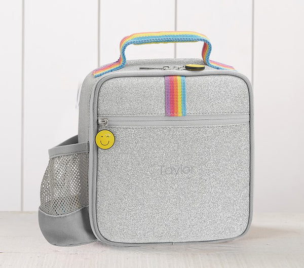 Silver Glitter Lunch Box