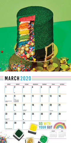 March Calendar with Green Hat Cake