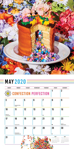 May Calendar with Flower pot cake