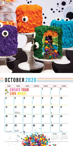 October Calendar with mini spooky cakes