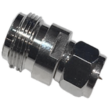 N-connector Female to F-connector Male adapter