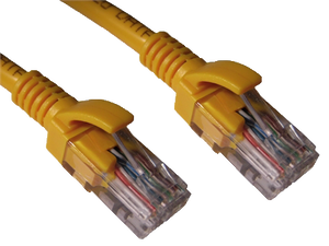 CAT5e patch cable (Yellow)