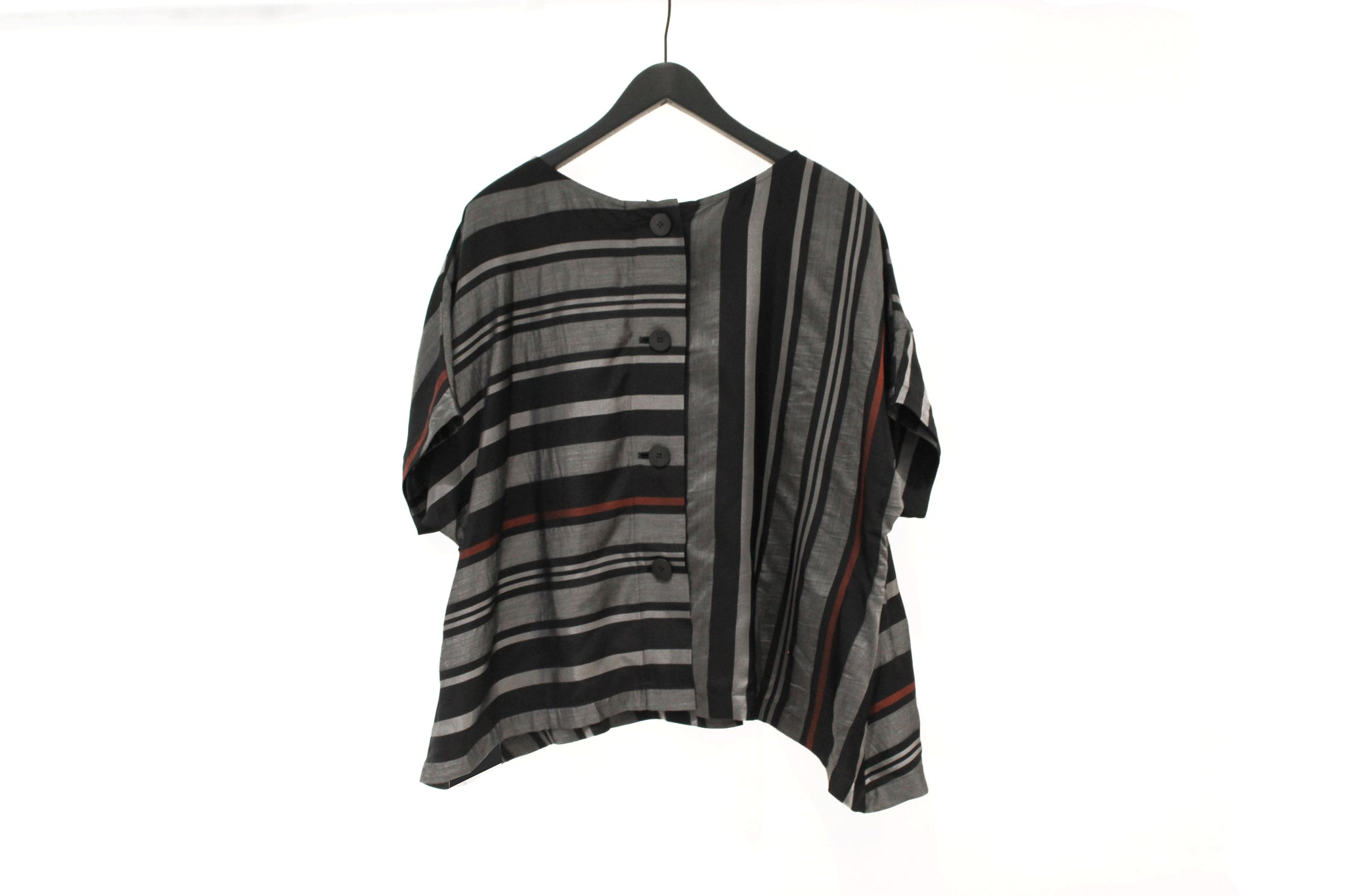 Mefu Striped Short Sleeve Boxy Top