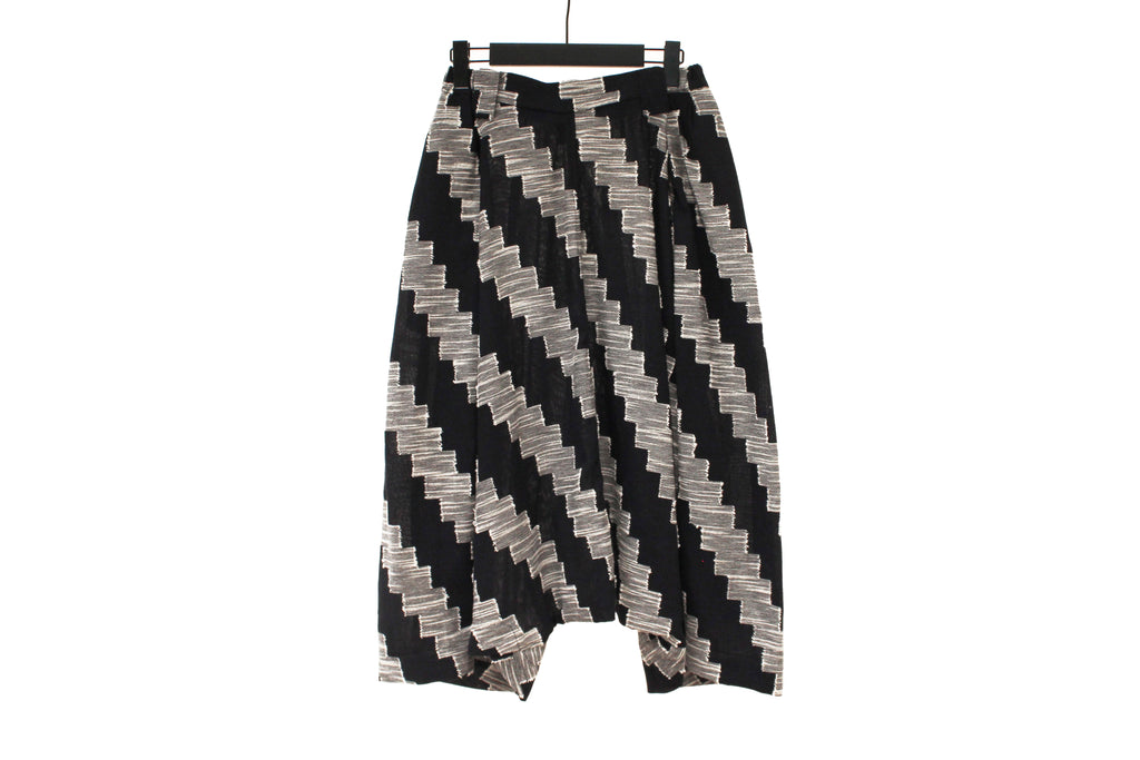 Moyuru Midnight Blue Zig-Zag Trousers