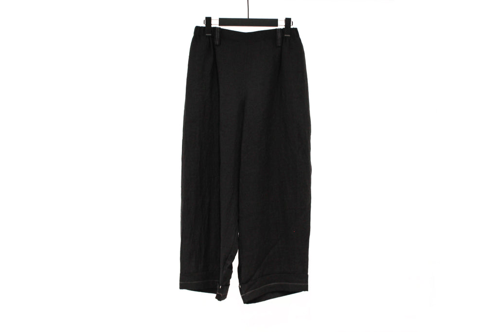 Moyuru Black Rounded Trousers